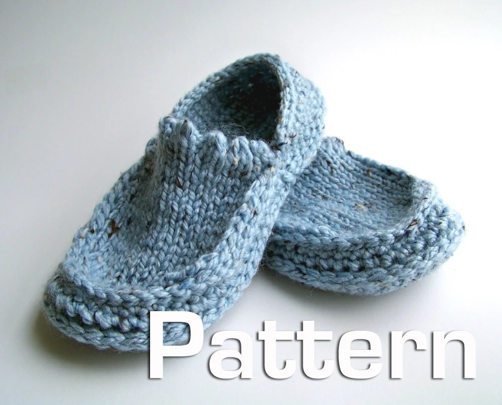 Knitted Boot Slippers Directions