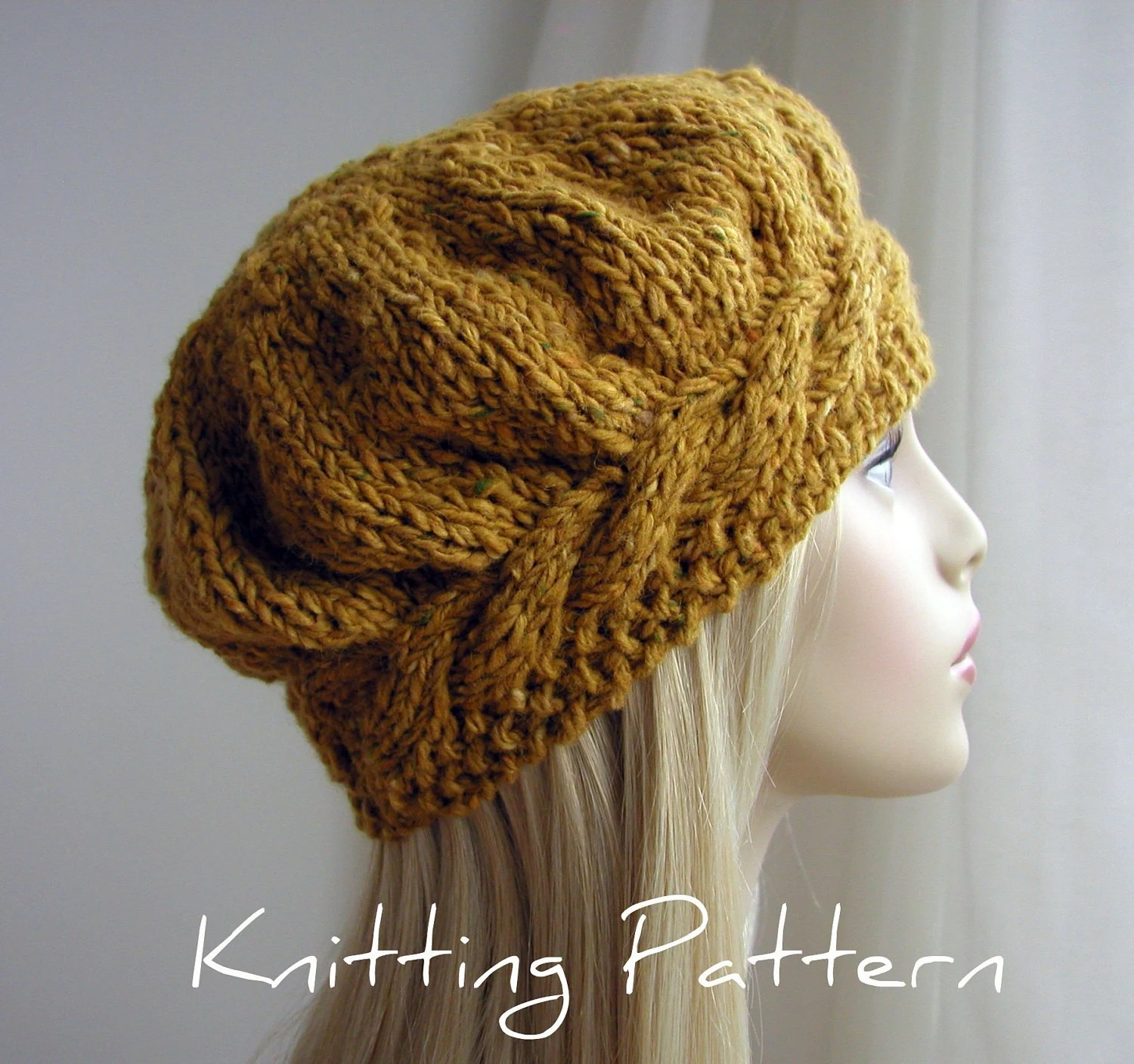 Knitted Cable Hat 2 Needles