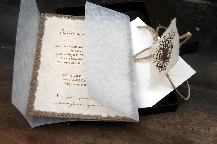 Cheap Rustic Wedding Programs