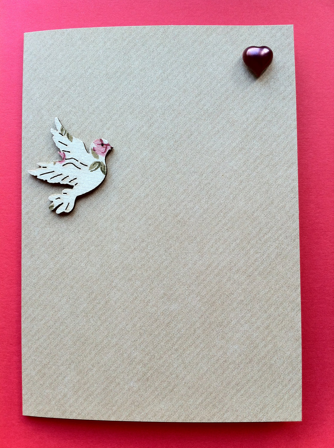 Dove Flying to Heart Card by The Dinky Dove