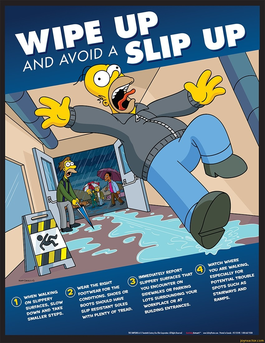 Simpsons Safety Tv Shows Poster Funny Pictures