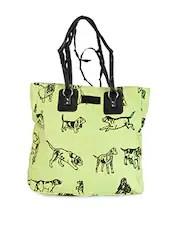 Dog Printed Cotton Canvas Handbag - Online Shopping for handbags