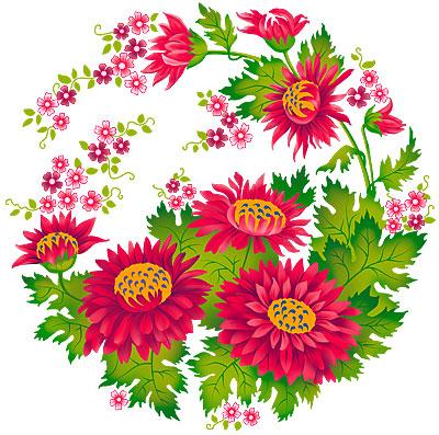 Нарисованные Картинки Цветы