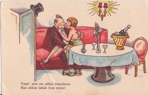 Эстонские дореволюционные открытки. 31 карикатура