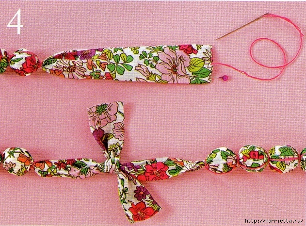 Textile beads do it yourself. Master Class (55) (625x461, 314KB)