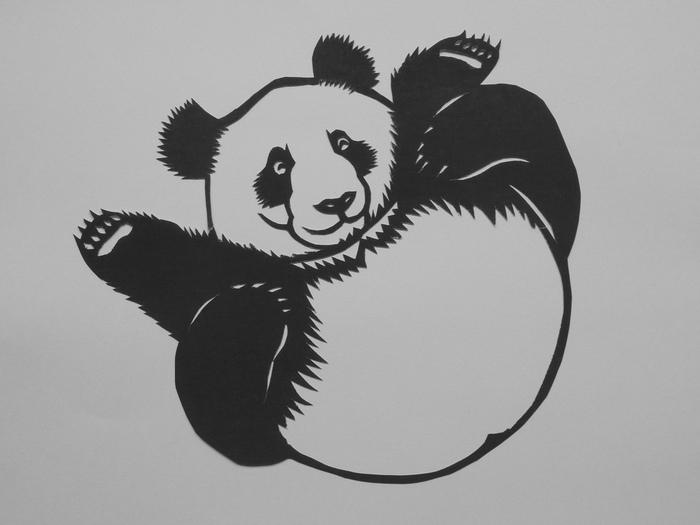 Китайские панды из бумаги: китайское традиционное искусство цзяньчжи
