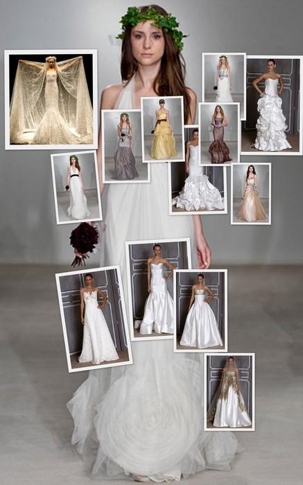 Свадебные наряды 2009 года