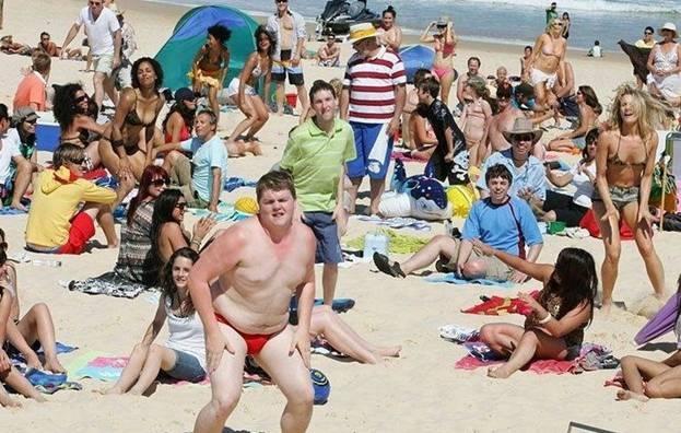Пляжный флэшмоб. Танцы в Сиднее