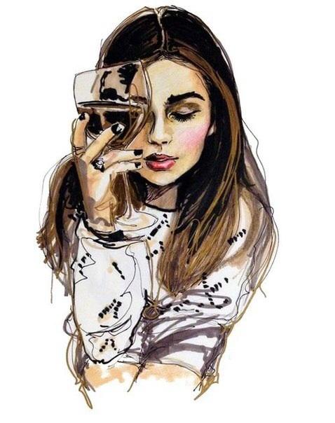 Нарисованные картинки девушки. Обсуждение на LiveInternet ...