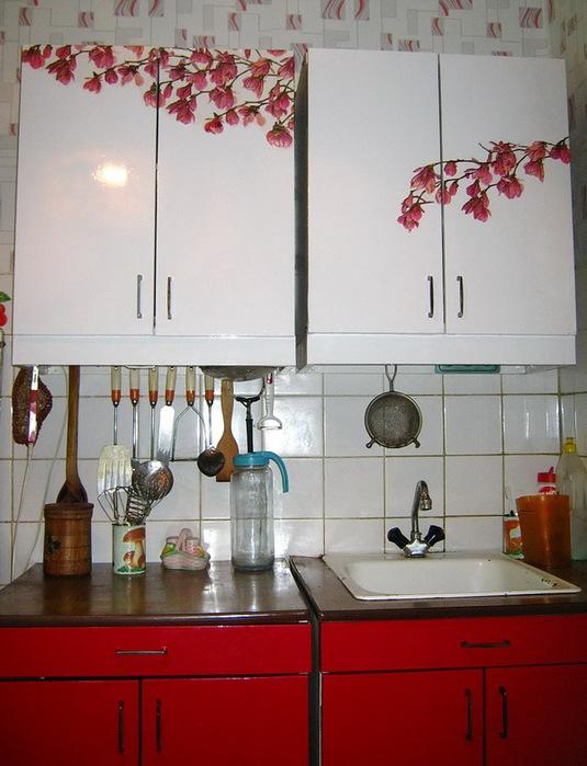 декупаж старой кухни Мебель