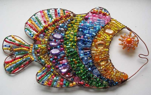 рыба з бисеру схемы и картинки - Евро 2012