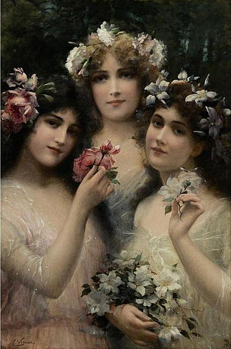 Emile Vernon - 1872-1919 - The Three Graces (464x700, 245Kb)