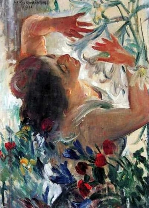 Lovis_Corinth_German_Painter_18581925__ Charlotte_Berend Corinth__with_Lilies_1911 (495x691, 263Kb)