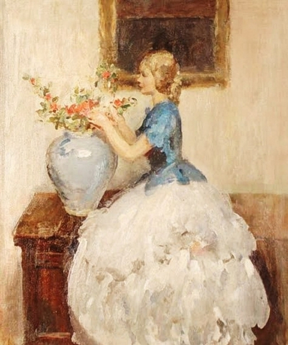 Walter_Ernest_Webster_(British_artist,_1878-1959)__Woman_Tending_Flowers_in_a_Vase (583x700, 263Kb)