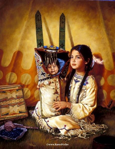 Karen Noles -картины детей американских индейцев.