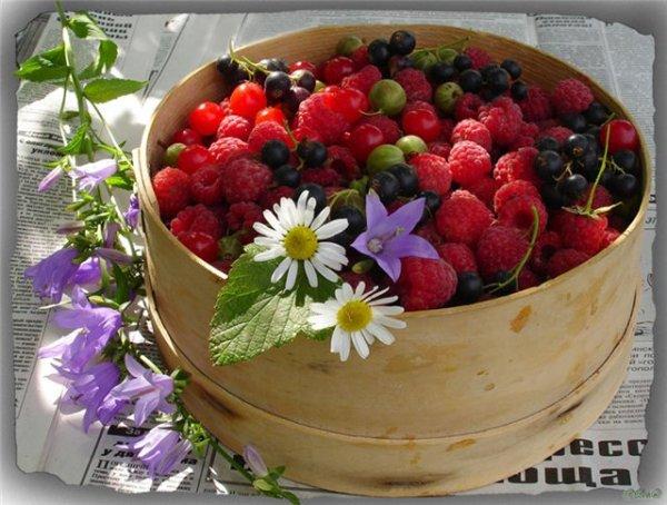 Картинки для декупажа. Ягоды (фото) малина,клубника,вишня ...