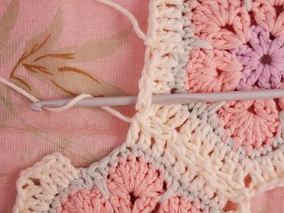 Flower crochet piece AFRICAN FLOWER for knitting toys (38) (400x300, 110Kb)