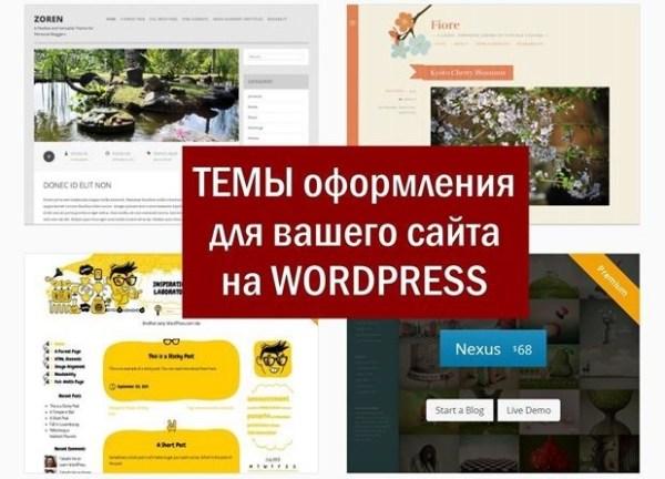 Темы WordPress на вашем сайте. Где взять шаблоны, как установить и настроить
