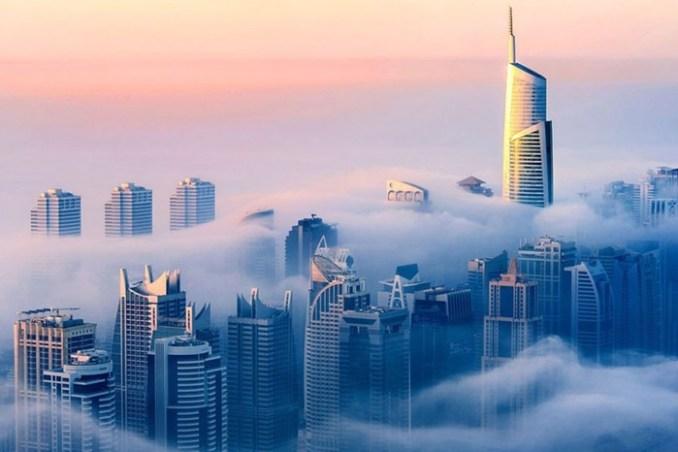 Дубаи в облаках   фотограф Себастьян Опитз