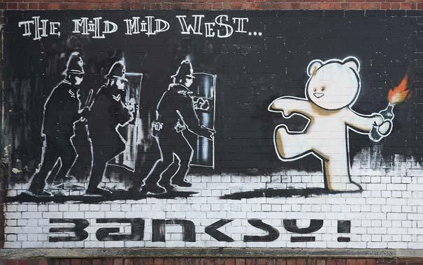Ядовитая крыса уличного искусства работы Бэнкси