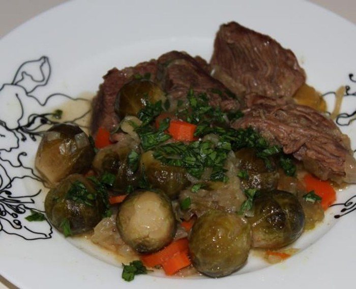 Рецепт приготовления говядины с брюссельской капустой