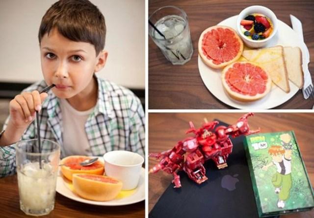 Люди и их завтраки в специальном проекте