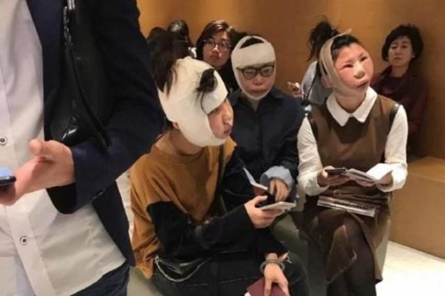 Три китаянки застряли в аэропорту Сеула из за пластических операций