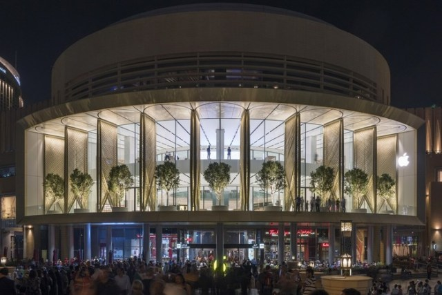 Дизайн флагманского магазина Apple в Дубае