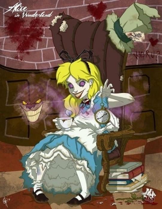 Как бы выглядели диснеевские принцессы в фильмах ужасов