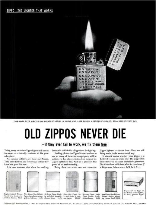 Не откажет никогда. История компании Zippo и ее зажигалок