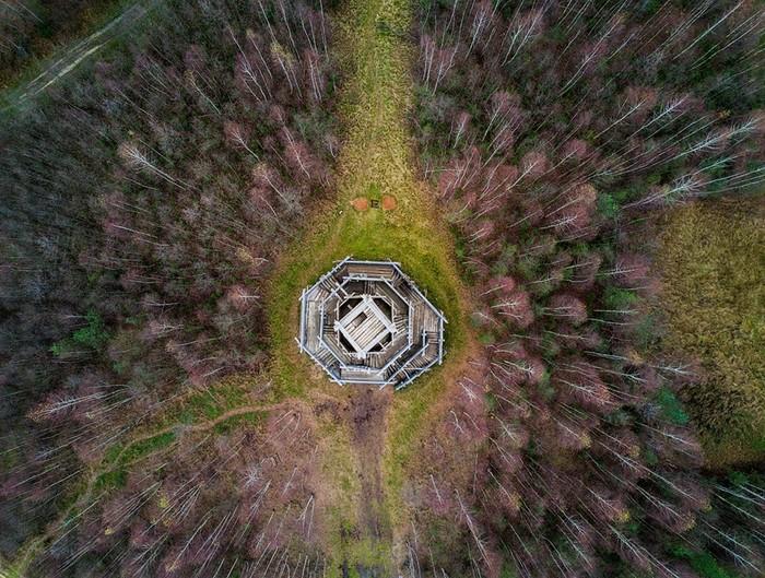 Арт парк «Никола Ленивец» с высоты птичьего полета