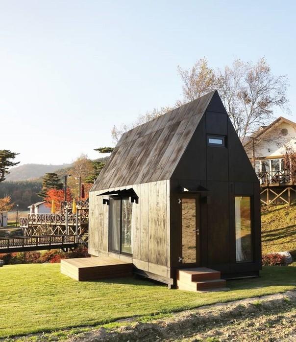 Крошечные домики для гостей зимней Олимпиады 2018 в Южной Корее