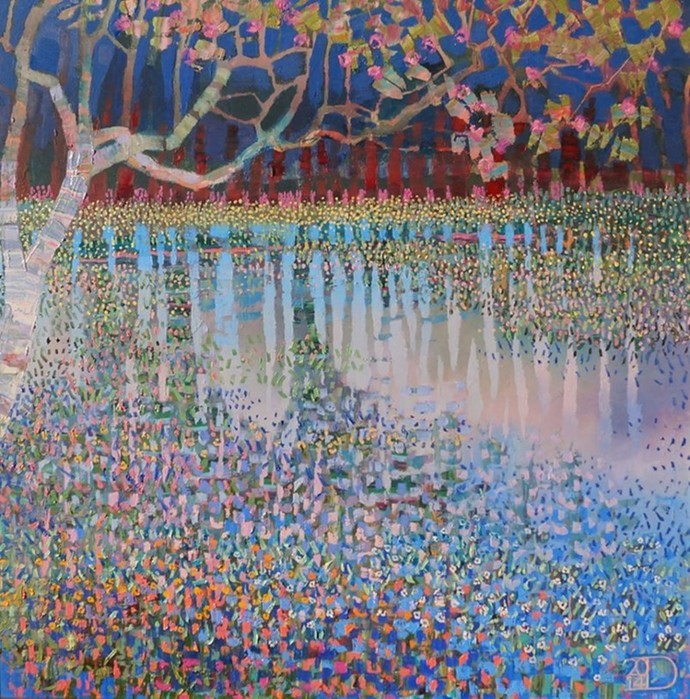Голландский художник Тон Дублендам и его чудесные картины в стиле пуантилизма