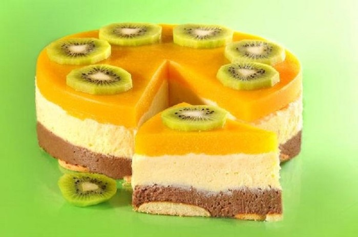 Манный торт десерт без выпечки