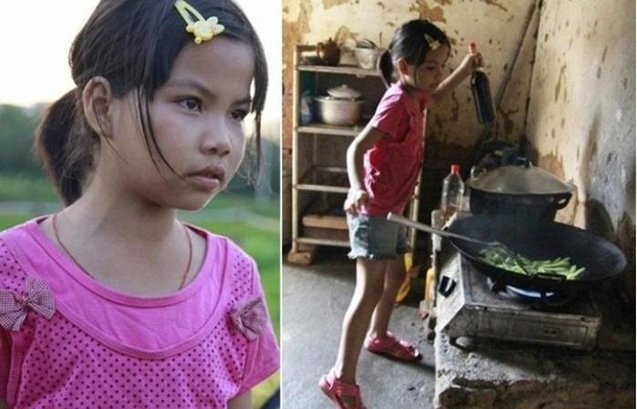 Заменила родителей: 10 летняя девочка воспитывает двух младших братьев