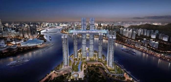 Китайский горизонтальный небоскреб: амбициозный строительный проект