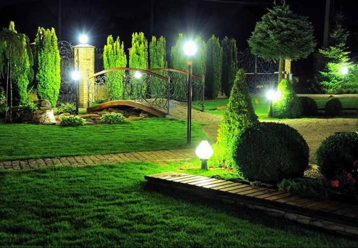 Освещение в ландшафтном дизайне