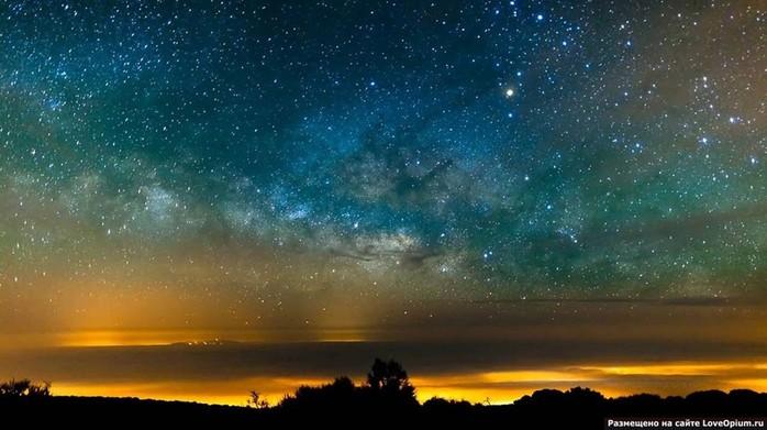 Галактика Млечный путь: интервальная съемка с самой высокой точки Испании