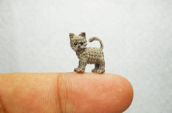 Милые миниатюрные животные, связанные крючком