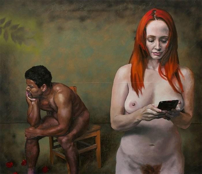 Злые карикатуры на людей, которым весь мир заменил экран смартфона