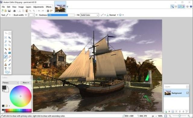 Бесплатный Paint.NET   растровый графический редактор для Windows
