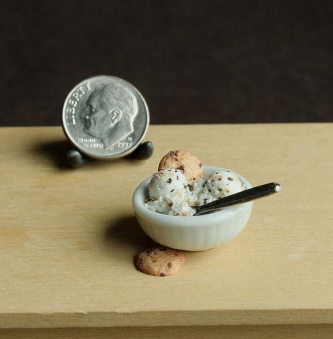 Художница Ким Клаф и ее крошечные скульптуры еды (миниатюры из глины)