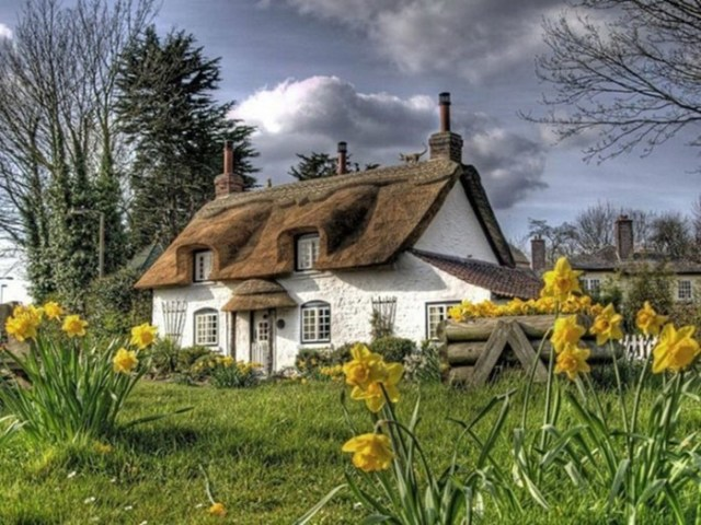 Сказочные домики с соломенными крышами в английской глубинке