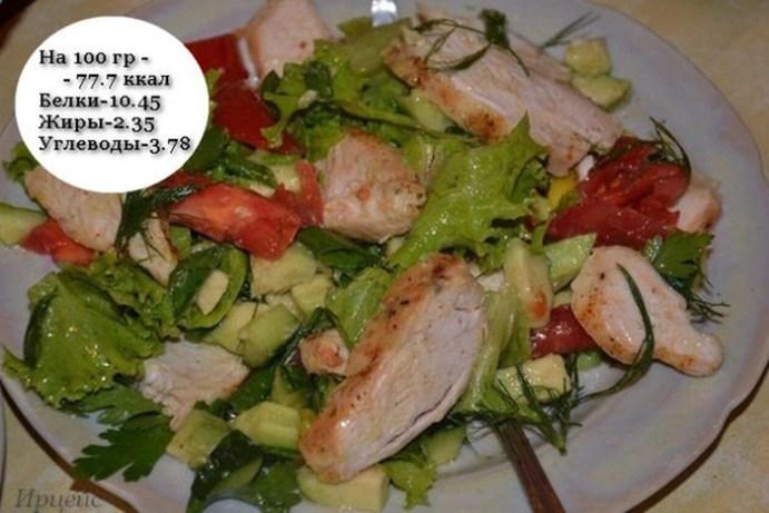 5 фитнес салатов для плоского живота