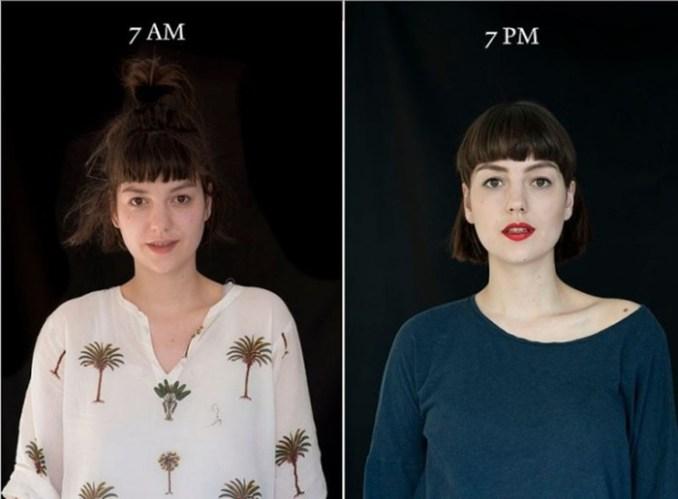 «7 утра   7 вечера»: как по разному выглядит человек