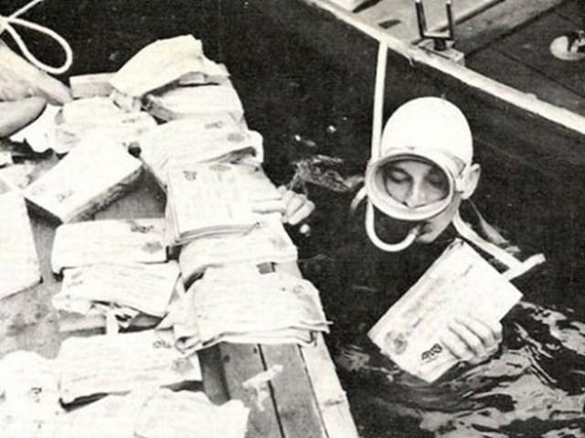 Что фашисты затопили в озере Топлиц Зее?