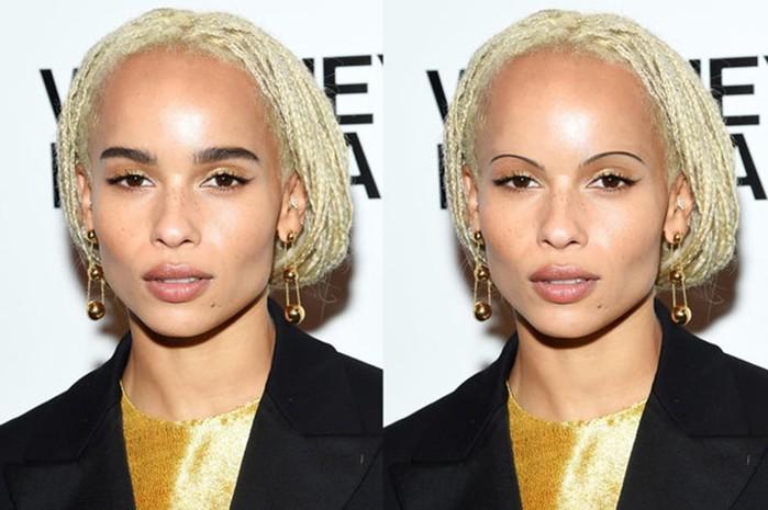 Смешные фото Elle: Красивым актрисам заменили широкие брови на тонкие