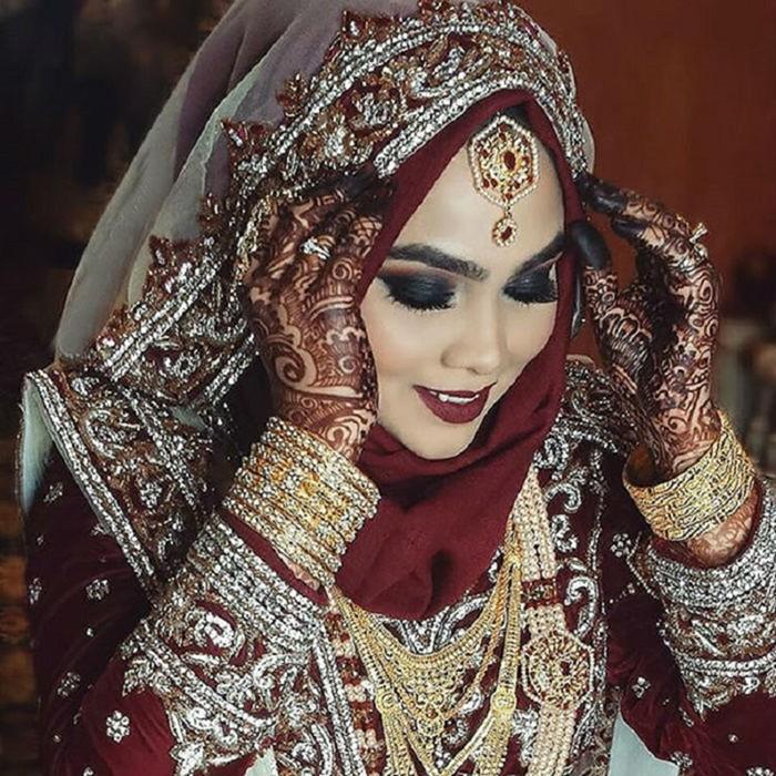 25 красивых фотографий невест мусульманок в хиджабах