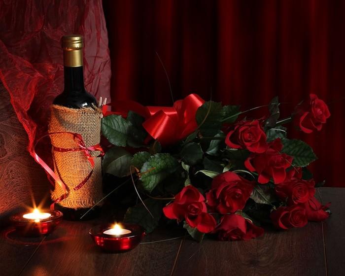 Вино и цветы, или Как удивить женщину