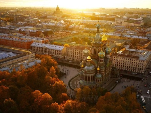 Фотографии Санкт Петербурга— вид сверху